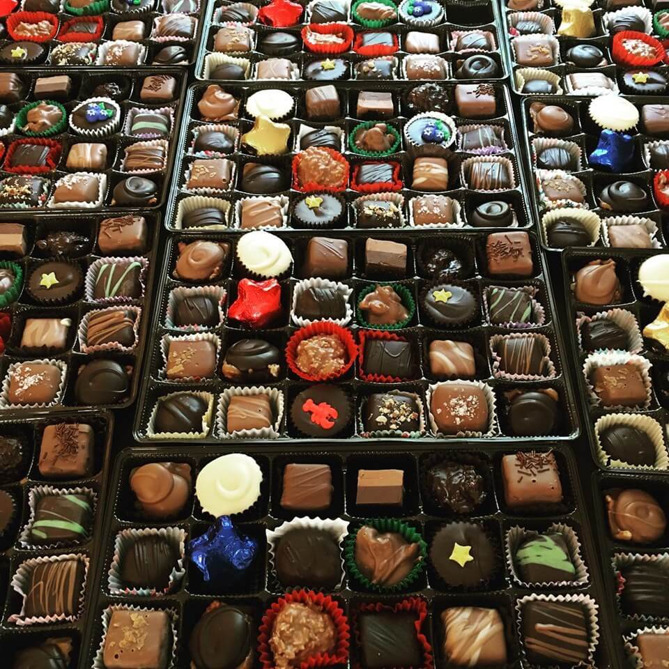 boxes of assorted chocolates.