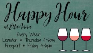 happy hour graphic with wine glasses