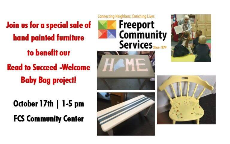 Freeport Community Services - Freestyle Freeport: Hand-painted Furniture Sale Benefit